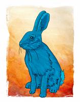 Blue, blue bunny by wendystolyarov