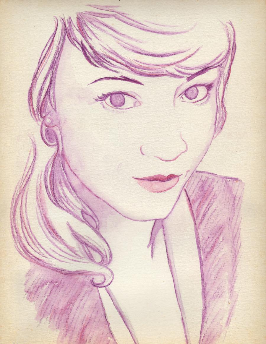 Watercolor Portrait: DrAcula by wendystolyarov
