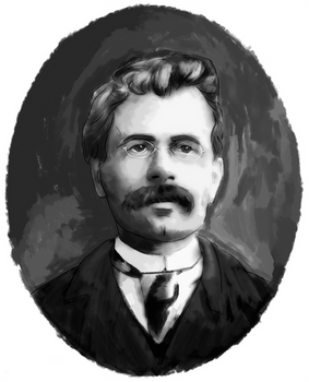 Portrait of Friedrich Nietzche