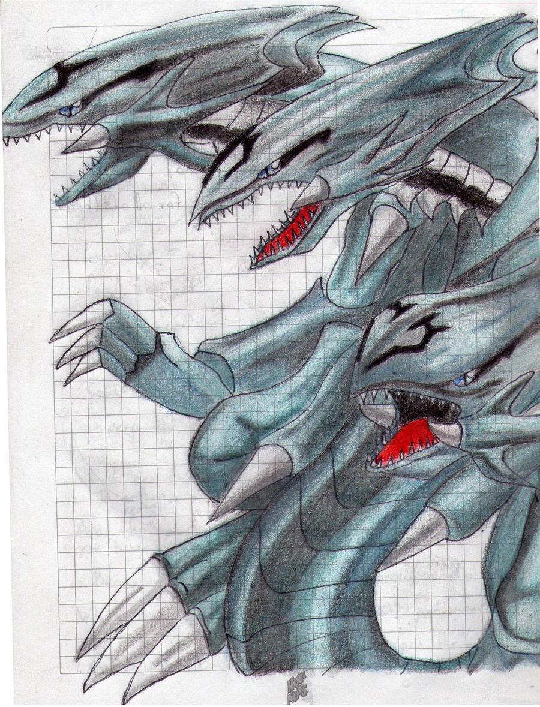 blue eyes ultimate dragon by comandanteelite on deviantart