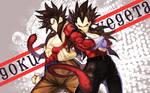 SS4 - Goku and Vegeta by shamelesXintentions