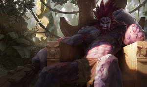 Trundle('Drandle' = Draven + Trundle) by Agantor