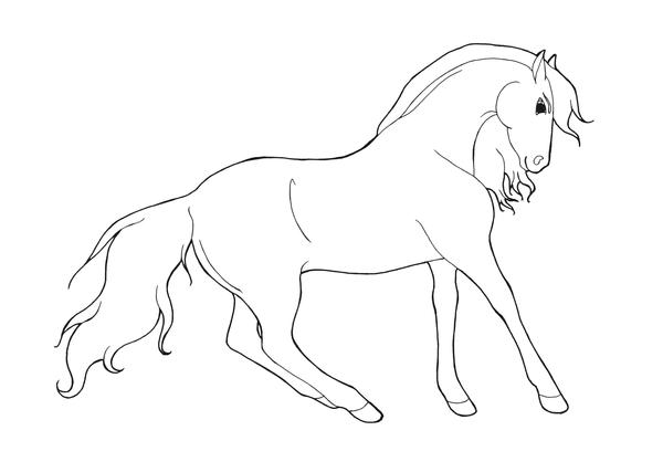 Horse Lineart By Hydraequus On Deviantart