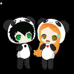 UlquiHime Chibi Pandas by superaura