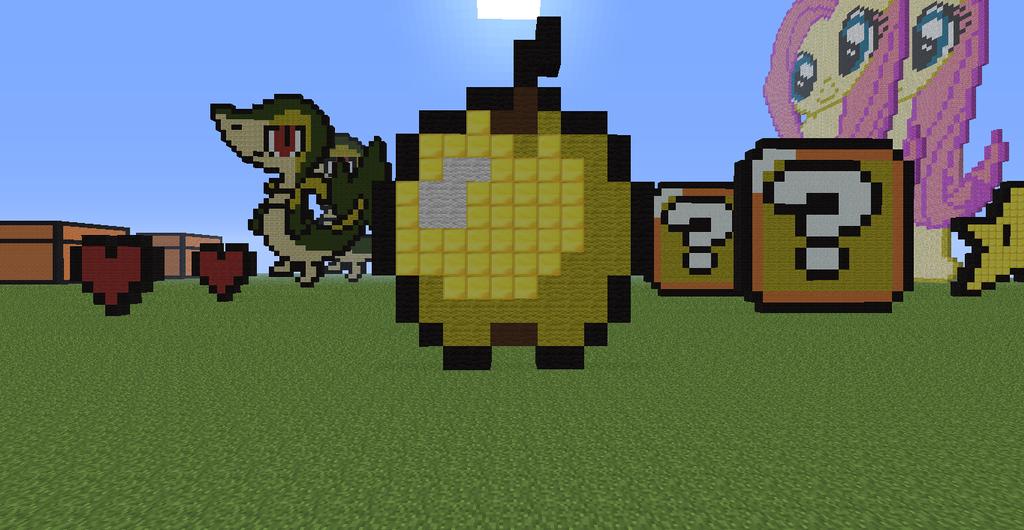 Minecraft Pixel Art Go...