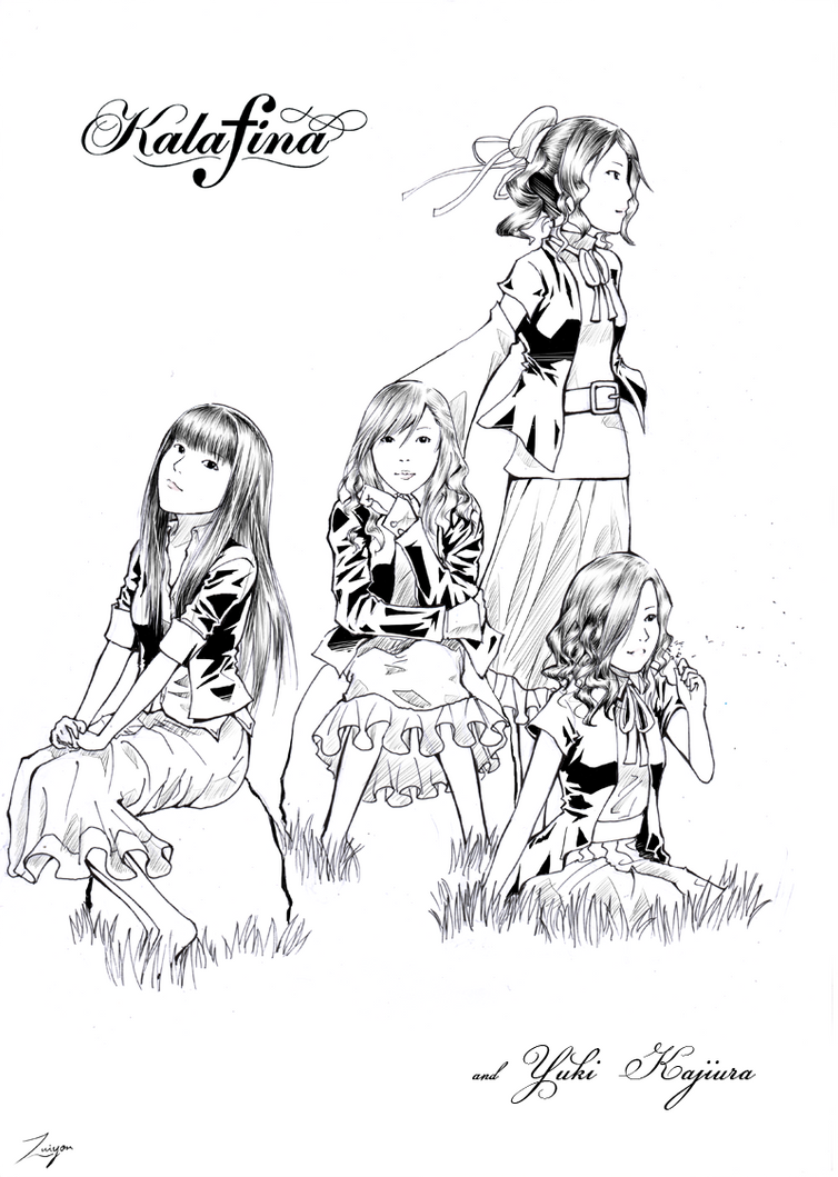 Kalafina and Yuki Kajiura by Zuiyon on DeviantArt