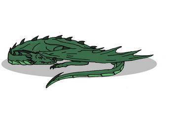 Sleeping Dragon T-Shirt Design by Kerian-halcyon