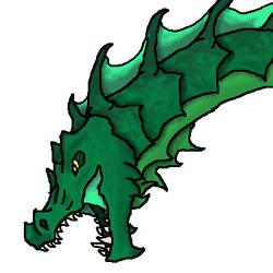 DnD - Green Dragon Bust