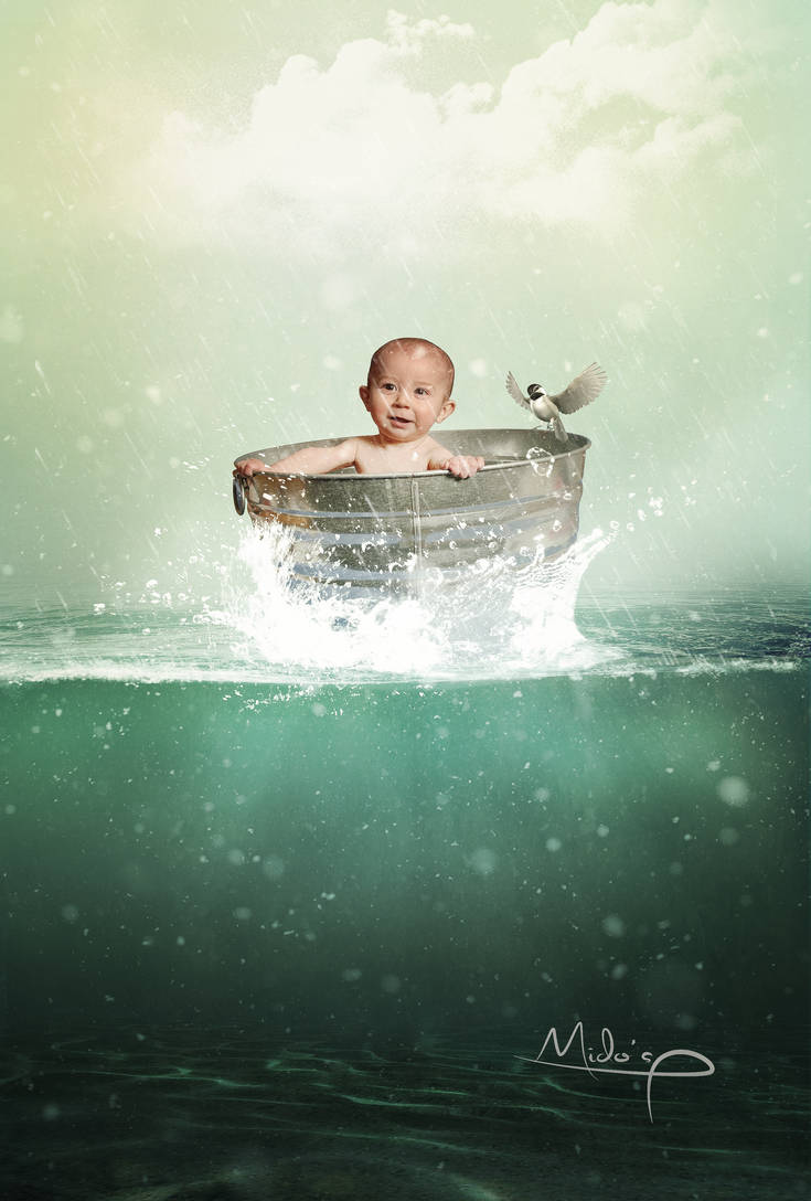 Baby And Water by MidosArtwork