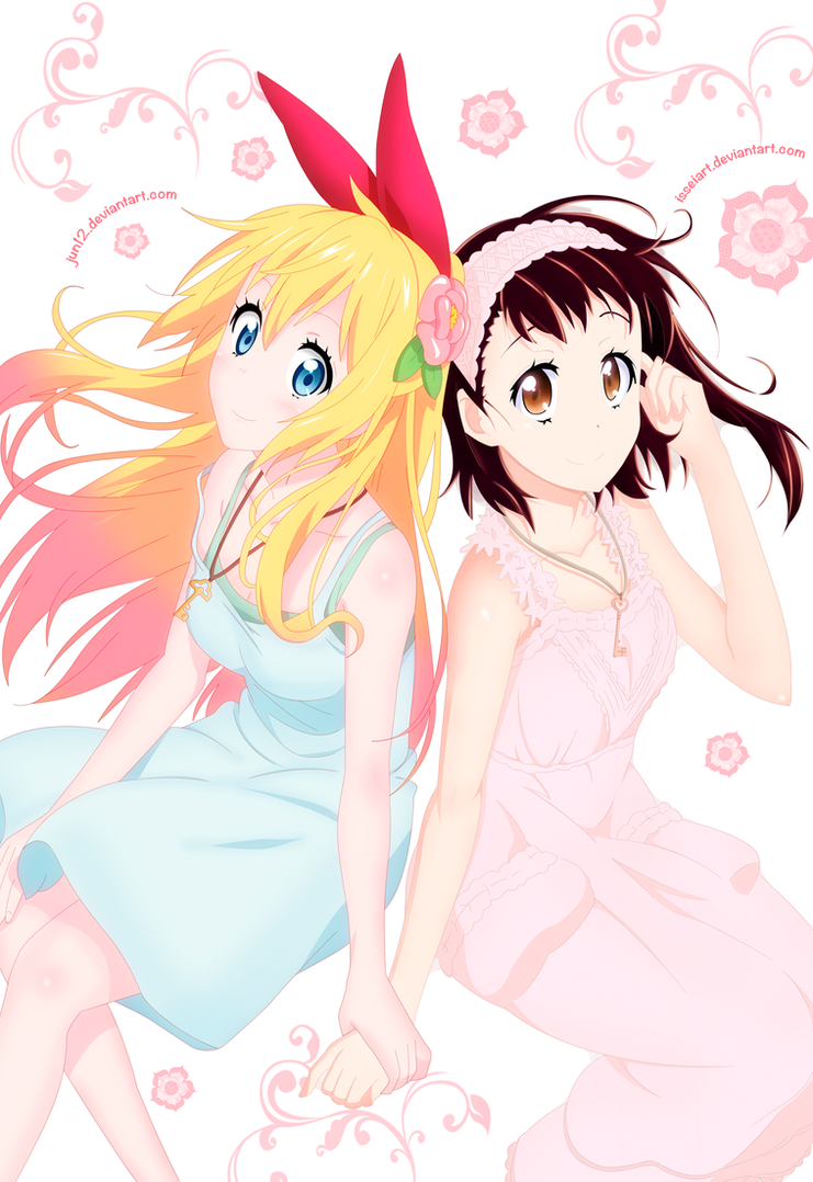 Chitoge and Kosaki by Jun12