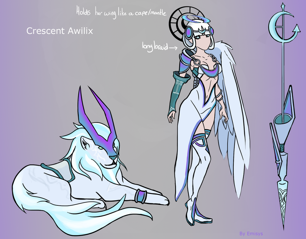 Crescent Awilix Angelic Community concept skin by Emisys