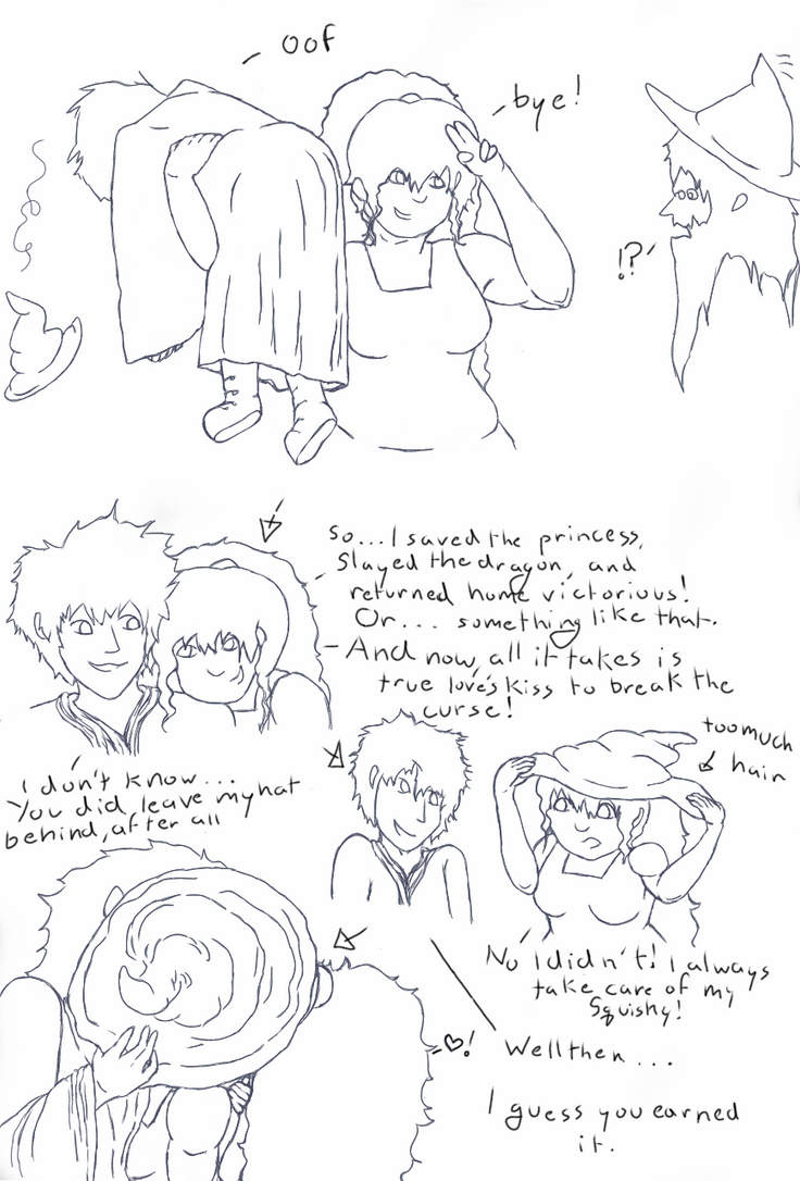 Iona and Lord Squishy: ''Hat Trick'' pg2 by underorion