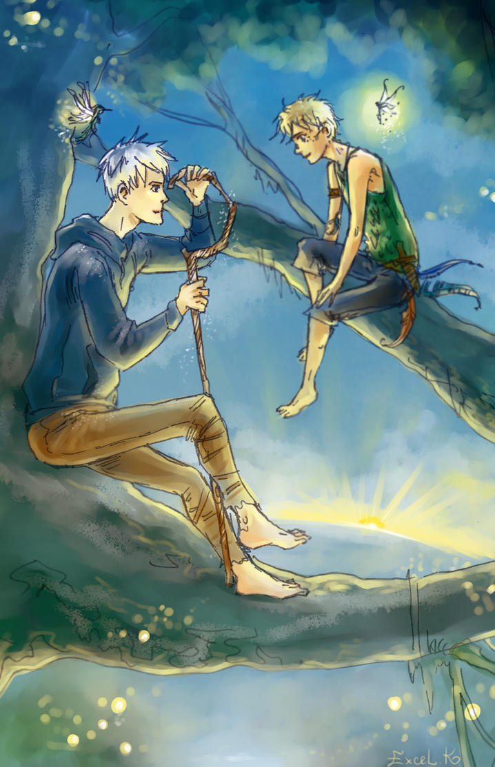 Jack Frost and Peter Pan by Excel-K