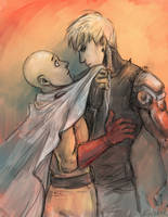 Saitama and Genos by Excel-K