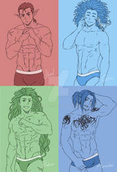 4 Colours for 4 Hunks!!!