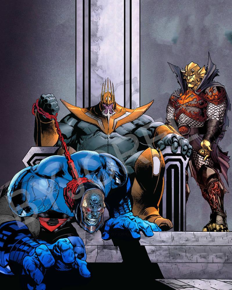 King Thanos vs Darkseid  FanArt byJorEl by JorEltheArts on DeviantArt