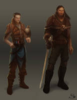 Silvernai: character concept pack 1 by noiprox
