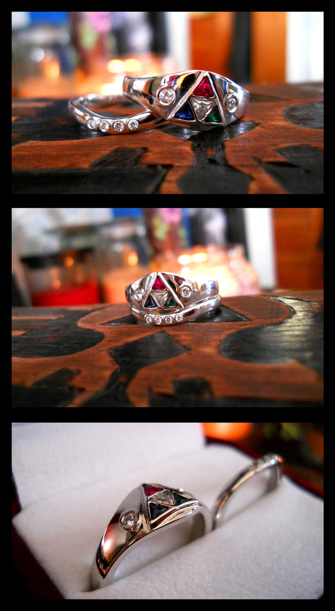 Triforce Bridal Set by TheaAtherea
