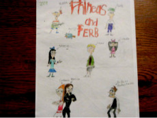 Phineas and Ferb drawing by DoubleGstar