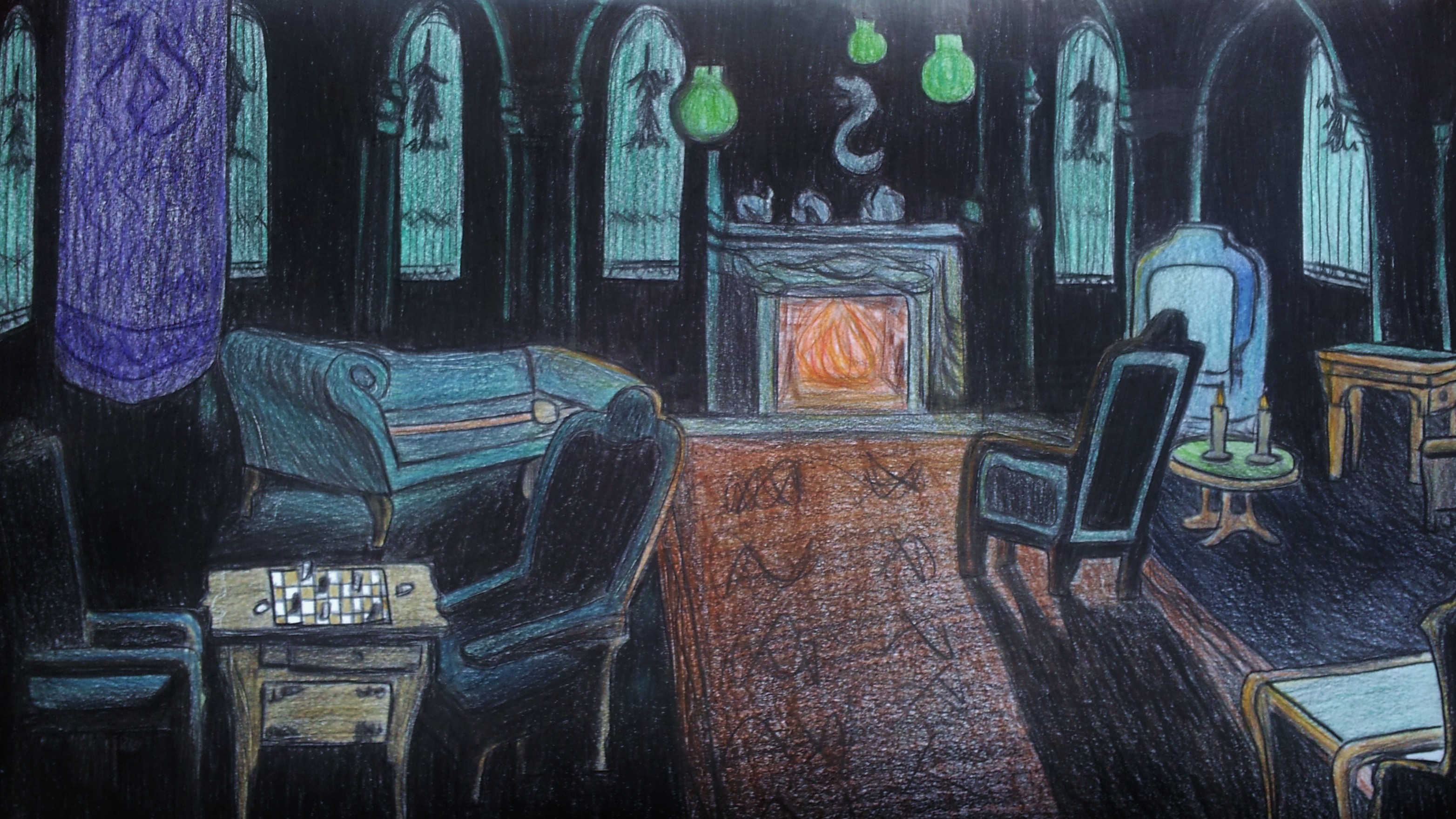 Slytherin Common Room By Cladylove On Deviantart
