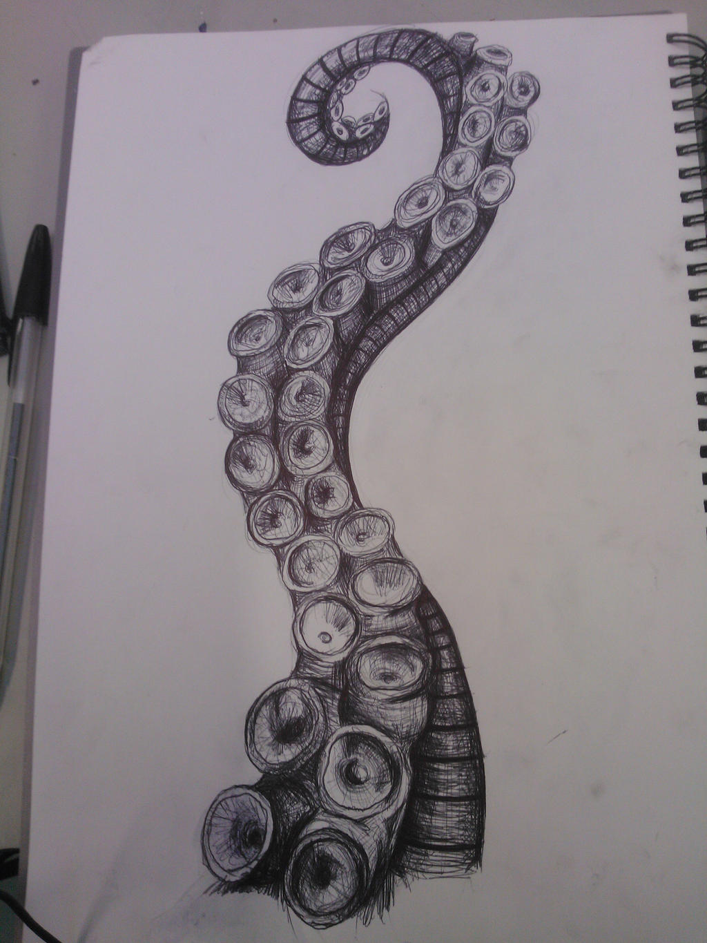 octopus tentacle by sweetestmalificia on deviantart
