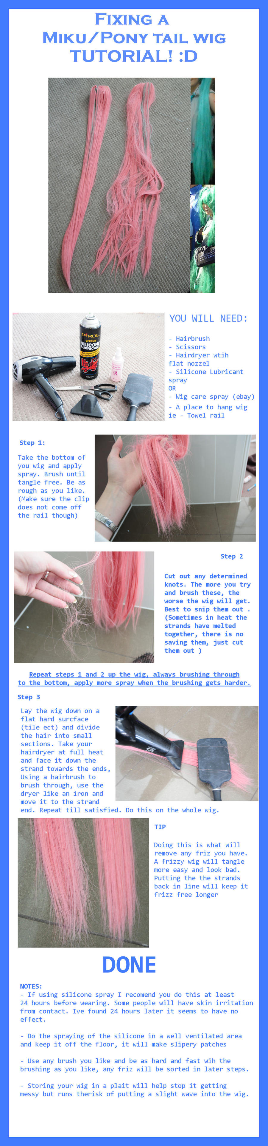Tutorial: Fixing Ponytail wig