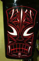 Tiki Pinstriped Saddel bag by HotRodJen