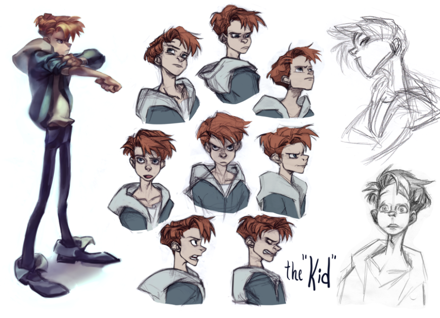 Character Design Career : The kid expression sheet by kimchii on deviantart