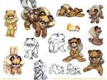Pomeranian Character Design pg2