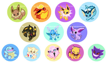 Pokemon buttons part 2 by kimchii