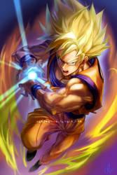 Super Saiyan Goku by kimchii