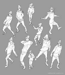 Exo Sehun Gesture Studies by kimchii
