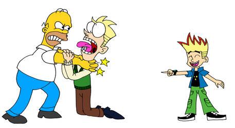 Homer Strangling Hugh Test
