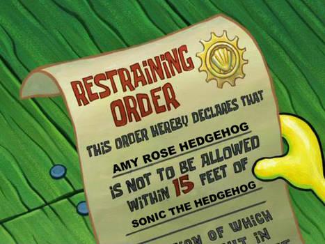 Sonic's Restraining Order
