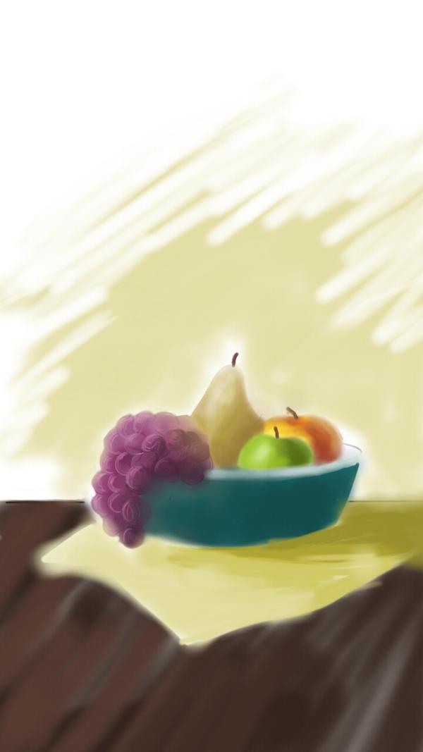BASKET OF FRUIT by RadostinaArt