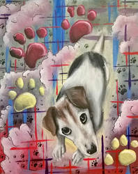 Jack Russell painting - Gromit