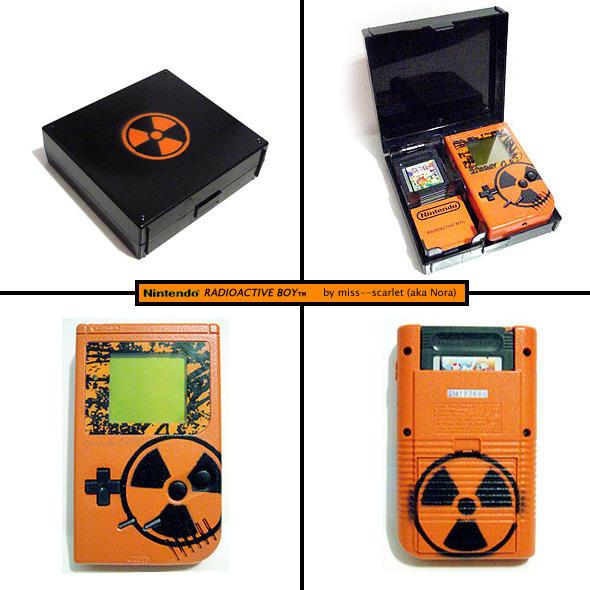 Radioactiveboy: Custom Gameboy by miss--scarlet