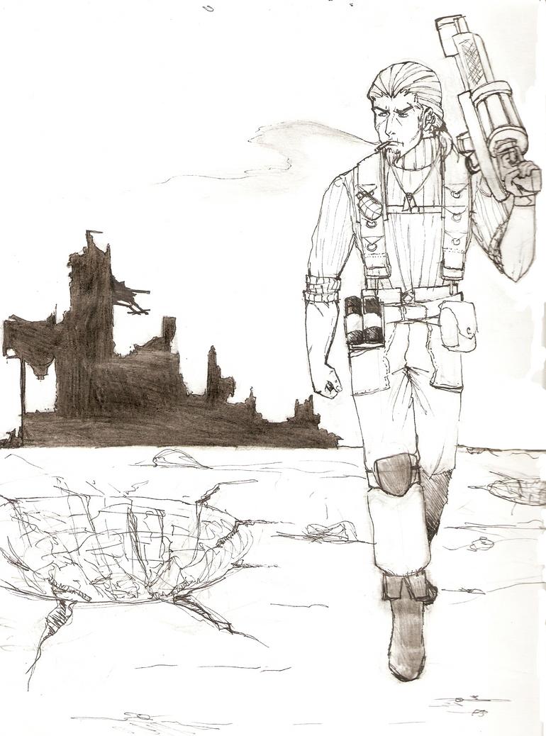 Sketch of Tom by DeadOnes