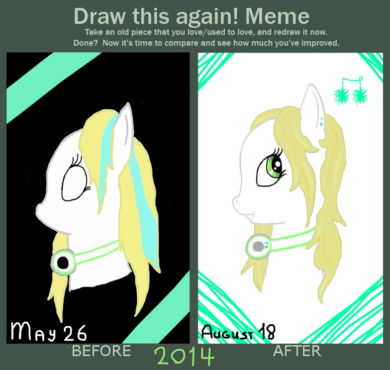 Before and After : Fizzy Key (ponysona) by Nazus-98