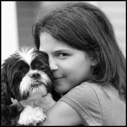 Jenna and Buster BW Aug 2008 by pearwood