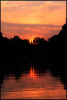 Fire on the water - Sept 2008 by pearwood