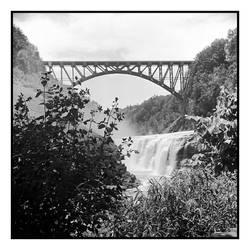 2018-165 New bridge at Letchworth Upper Falls by pearwood