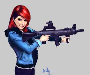 Hayley Gun by Willdabeef