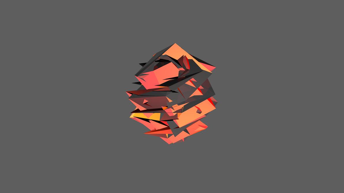 Orange facet 4k by raj3n on deviantart for Material design wallpaper 4k