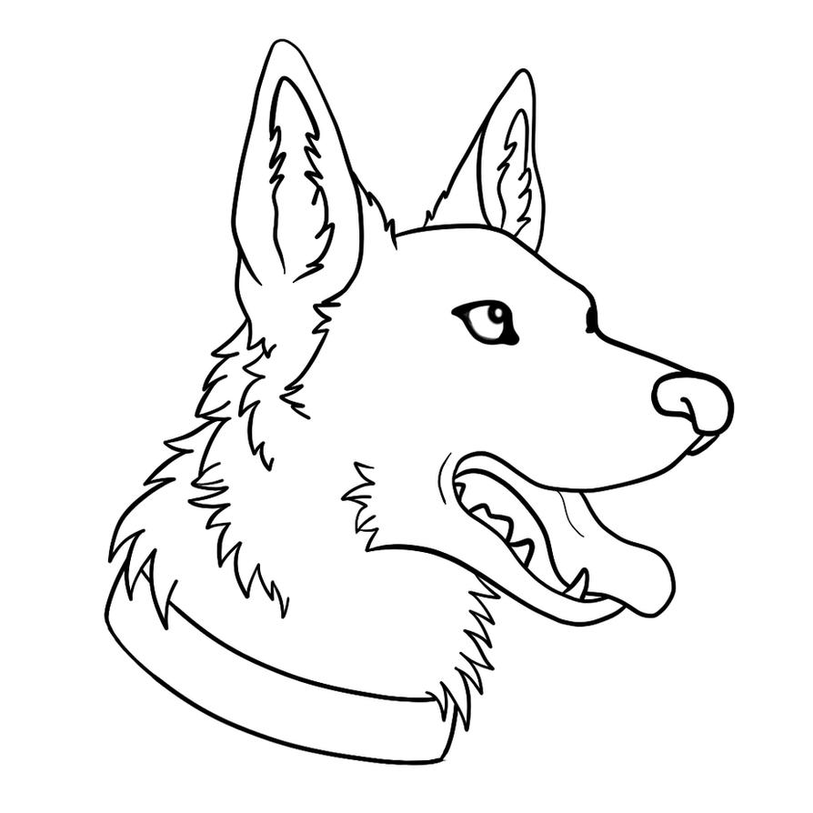 German Shepherd Free Lines by xCoyote on DeviantArt