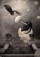 Whitw Umbrella by gocer-art