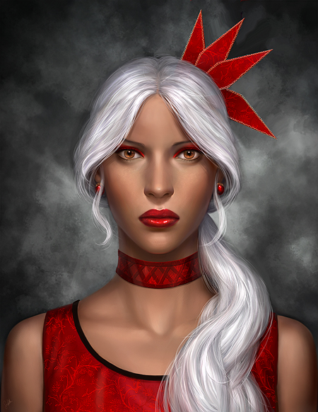 Commission: Axelle Portrait by mckadesinsanity