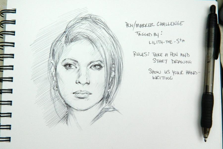 Pen/Marker Challenge Doodle by mckadesinsanity