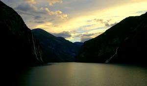 Geirangerfjord at dawn