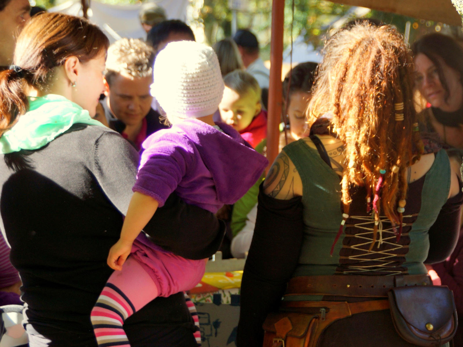 people at the fair #2 by Mittelfranke